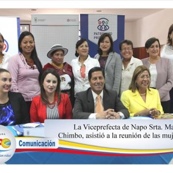 Viceprefecta asiste a reunión de mujeres
